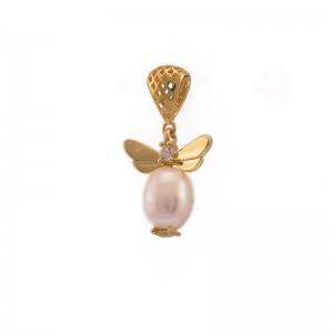 Pandantiv cu perle si aripi...