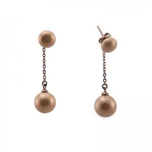 Cercei cu perle sferice si...