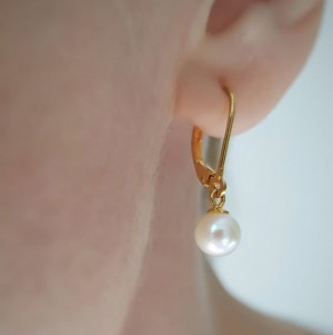 Cercei delicati cu perla...