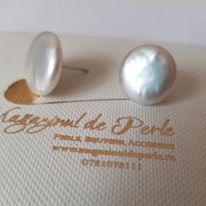 Cercei cu perle moneda de...