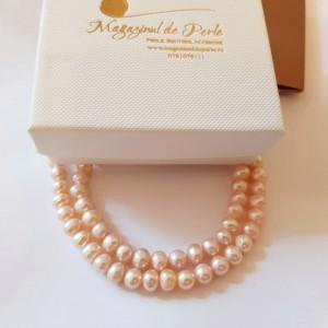 Colier clasic cu perle in...