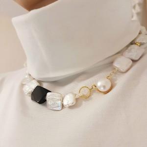 Colier- mix de perle baroc...