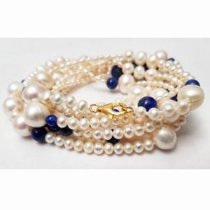 Colier lung cu perle de...