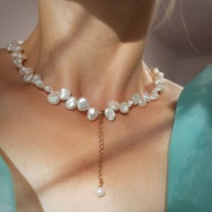 Colier diafan cu perle...