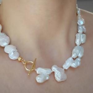 Colier cu perle baroc-...