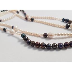 Colier lung cu mix de perle...