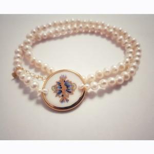 Colier clasic cu perle de...