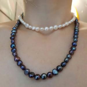 Oferta-Colier lung cu perle...