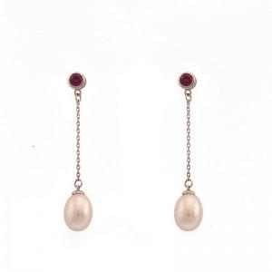 Cercei superbi cu perla de...