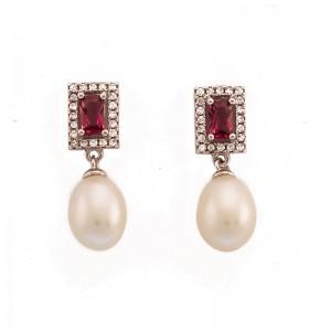 Cercei delicati cu perle de...