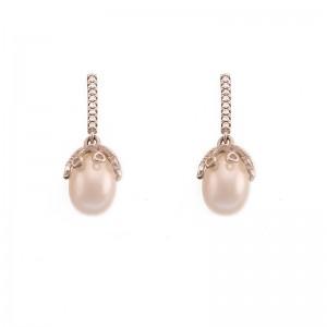 Cercei delicati cu perla de...