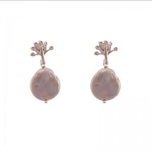 Cercei romantici cu perla...