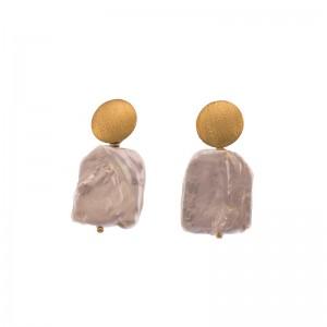 Cercei artizanali cu perla...